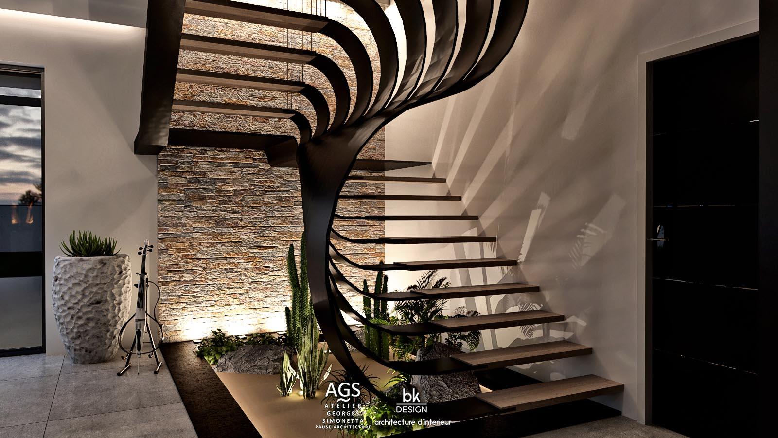 01 bk Design Projet Elange v4 05 Escalier
