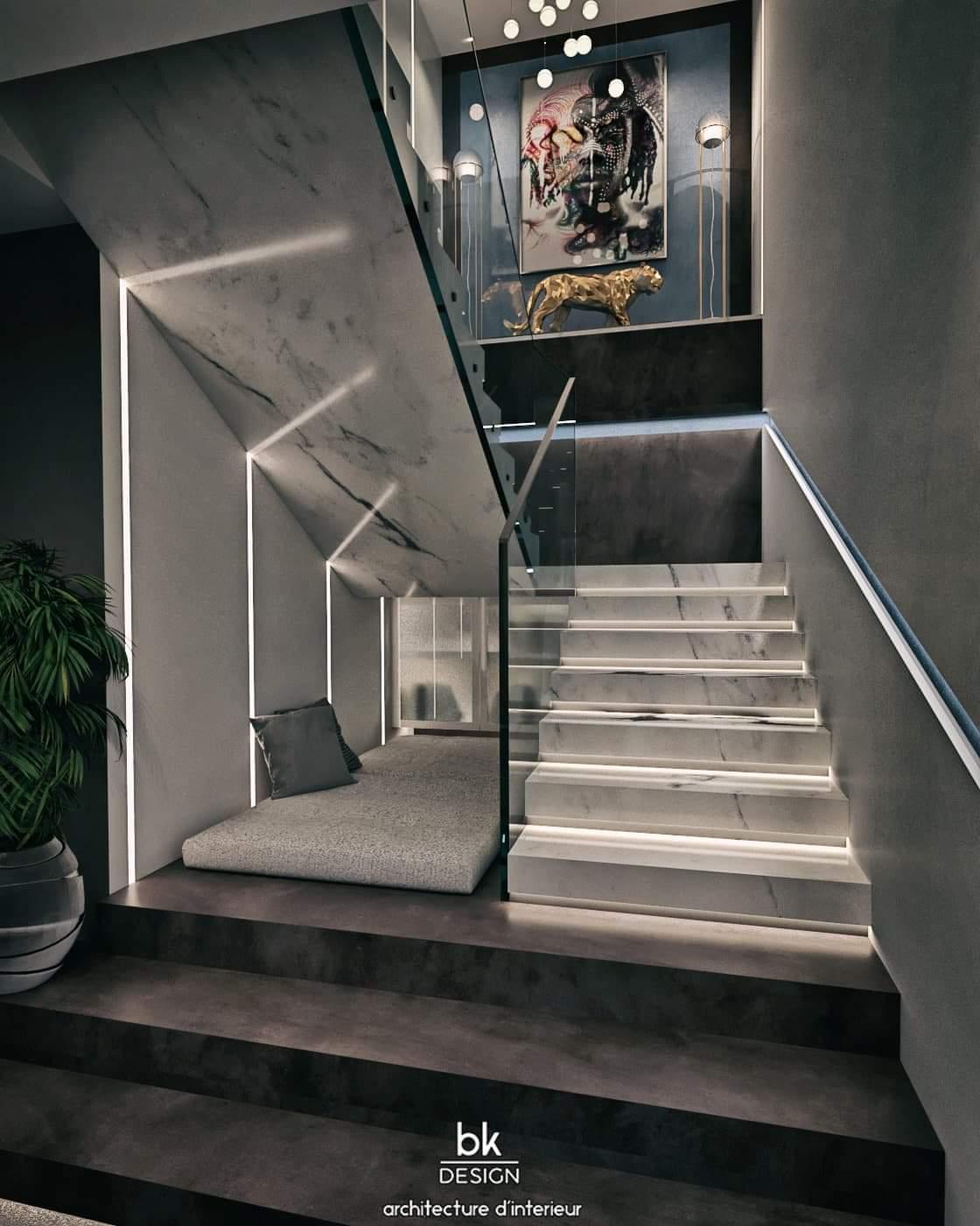 20 bk Design Projet Guenange 02 Escalier