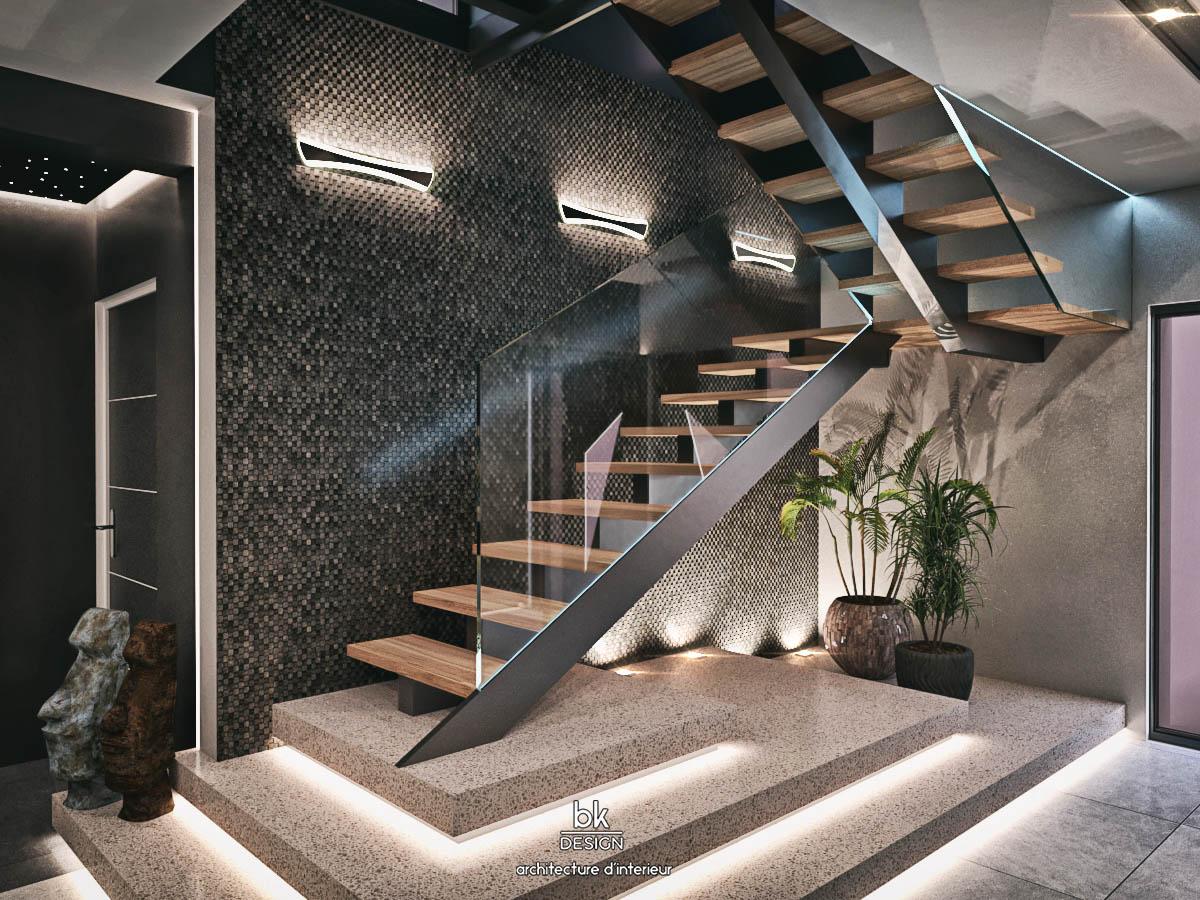 22 bk Design Projet Guénange v2R01 Escalier